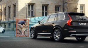 Cyclist detection (foto Volvo)
