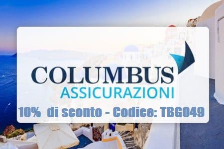 10% di sconto con il codice TBG049 sulle polizze viaggio di Columbus Assicurazioni